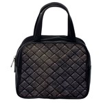 Seamless Leather Texture Pattern Classic Handbags (2 Sides) Back