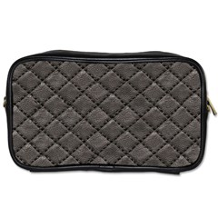 Seamless Leather Texture Pattern Toiletries Bags 2 Side
