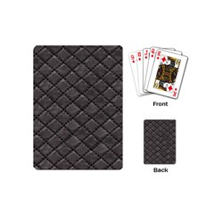 Seamless Leather Texture Pattern Playing Cards (mini)