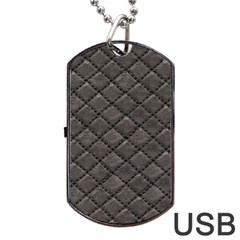 Seamless Leather Texture Pattern Dog Tag Usb Flash (one Side)