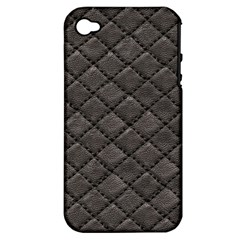 Seamless Leather Texture Pattern Apple Iphone 4/4s Hardshell Case (pc+silicone)