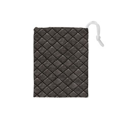 Seamless Leather Texture Pattern Drawstring Pouches (small)