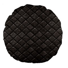 Seamless Leather Texture Pattern Large 18  Premium Flano Round Cushions