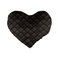 Seamless Leather Texture Pattern Standard 16  Premium Flano Heart Shape Cushions