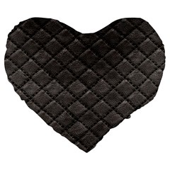 Seamless Leather Texture Pattern Large 19  Premium Flano Heart Shape Cushions