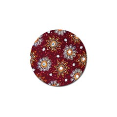 India Traditional Fabric Golf Ball Marker (4 Pack)