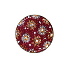 India Traditional Fabric Hat Clip Ball Marker (4 Pack)