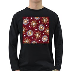 India Traditional Fabric Long Sleeve Dark T Shirts
