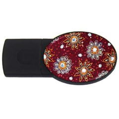 India Traditional Fabric Usb Flash Drive Oval (4 Gb)