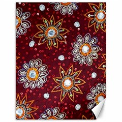 India Traditional Fabric Canvas 12  X 16