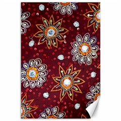 India Traditional Fabric Canvas 12  X 18