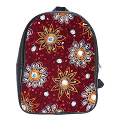 India Traditional Fabric School Bags(large)