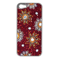 India Traditional Fabric Apple Iphone 5 Case (silver)