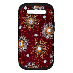 India Traditional Fabric Samsung Galaxy S Iii Hardshell Case (pc+silicone)