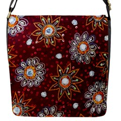 India Traditional Fabric Flap Messenger Bag (s)