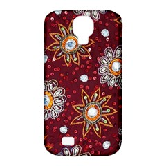India Traditional Fabric Samsung Galaxy S4 Classic Hardshell Case (pc+silicone)