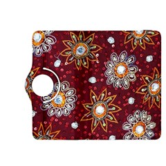 India Traditional Fabric Kindle Fire Hdx 8 9  Flip 360 Case