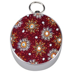 India Traditional Fabric Silver Compasses