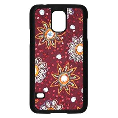 India Traditional Fabric Samsung Galaxy S5 Case (black)