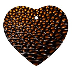 Digital Blasphemy Honeycomb Heart Ornament (two Sides)