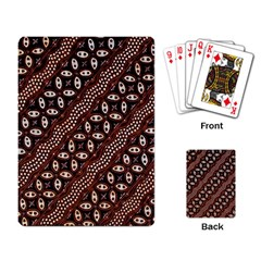 Art Traditional Batik Pattern Playing Card