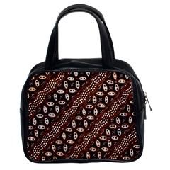 Art Traditional Batik Pattern Classic Handbags (2 Sides)
