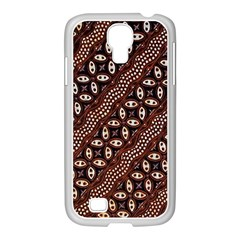 Art Traditional Batik Pattern Samsung Galaxy S4 I9500/ I9505 Case (white)