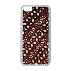 Art Traditional Batik Pattern Apple Iphone 5c Seamless Case (white)