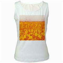 Beer Alcohol Drink Drinks Women s White Tank Top