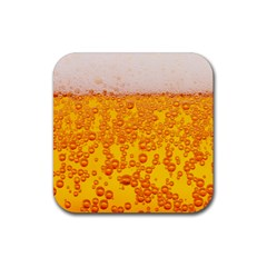 Beer Alcohol Drink Drinks Rubber Square Coaster (4 Pack)