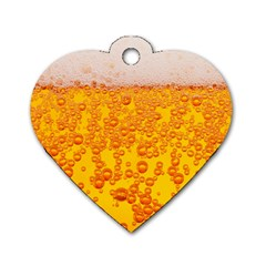 Beer Alcohol Drink Drinks Dog Tag Heart (one Side)