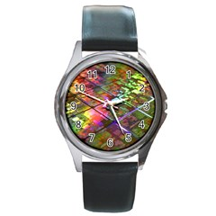 Technology Circuit Computer Round Metal Watch