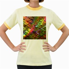 Technology Circuit Computer Women s Fitted Ringer T Shirts