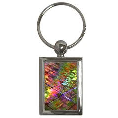 Technology Circuit Computer Key Chains (rectangle)