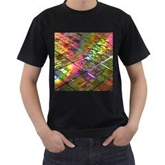 Technology Circuit Computer Men s T Shirt (black) (two Sided)