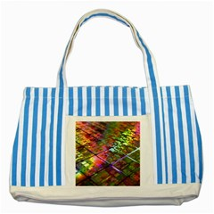 Technology Circuit Computer Striped Blue Tote Bag