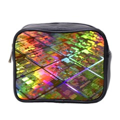 Technology Circuit Computer Mini Toiletries Bag 2 Side