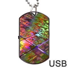 Technology Circuit Computer Dog Tag Usb Flash (two Sides)