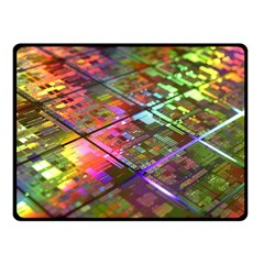 Technology Circuit Computer Double Sided Fleece Blanket (small)