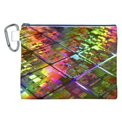 Technology Circuit Computer Canvas Cosmetic Bag (xxl)