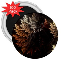 Fractalius Abstract Forests Fractal Fractals 3  Magnets (100 Pack)