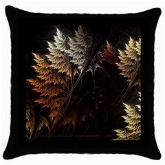Fractalius Abstract Forests Fractal Fractals Throw Pillow Case (black)