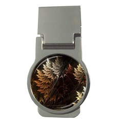 Fractalius Abstract Forests Fractal Fractals Money Clips (round)