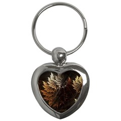 Fractalius Abstract Forests Fractal Fractals Key Chains (heart)