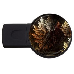 Fractalius Abstract Forests Fractal Fractals Usb Flash Drive Round (4 Gb)