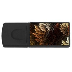 Fractalius Abstract Forests Fractal Fractals Rectangular Usb Flash Drive