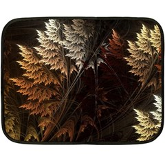 Fractalius Abstract Forests Fractal Fractals Double Sided Fleece Blanket (mini)
