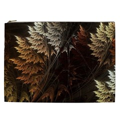 Fractalius Abstract Forests Fractal Fractals Cosmetic Bag (xxl)