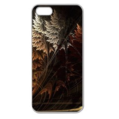 Fractalius Abstract Forests Fractal Fractals Apple Seamless Iphone 5 Case (clear)