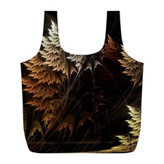 Fractalius Abstract Forests Fractal Fractals Full Print Recycle Bags (l)
